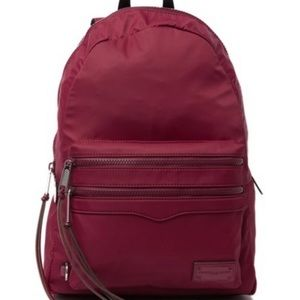 🆕 Rebecca Minkoff Large Two Zip Nylon Backpack
